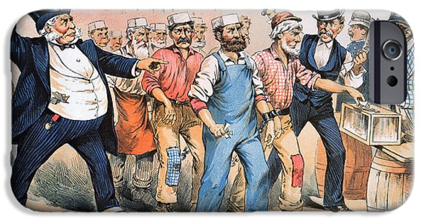 President iPhone Cases - Harrison Cartoon, 1888 iPhone Case by Granger