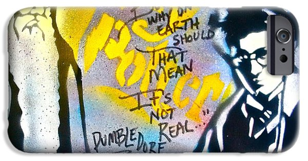 First Amendment Paintings iPhone Cases - Harry Potter with Dumbledore iPhone Case by Tony B Conscious