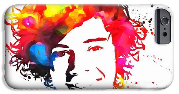 Taylor Swift iPhone Cases - Harry Styles Paint Splatter iPhone Case by Dan Sproul