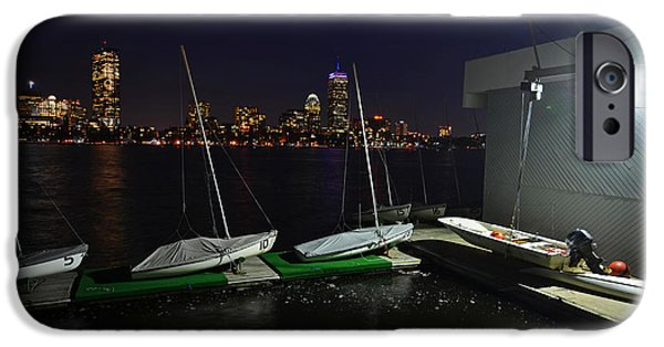 Boston Ma Paintings iPhone Cases - Harvard University Sailing Center iPhone Case by Toby McGuire