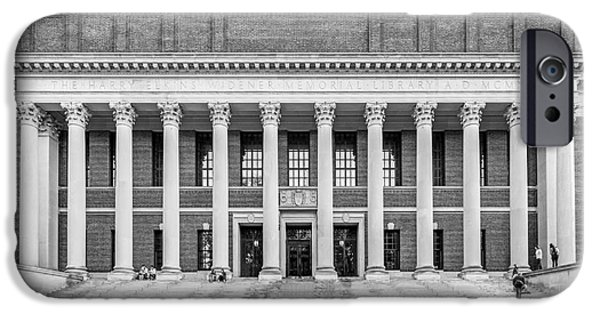 Special Occasion iPhone Cases - Harvard University Widener Library iPhone Case by University Icons