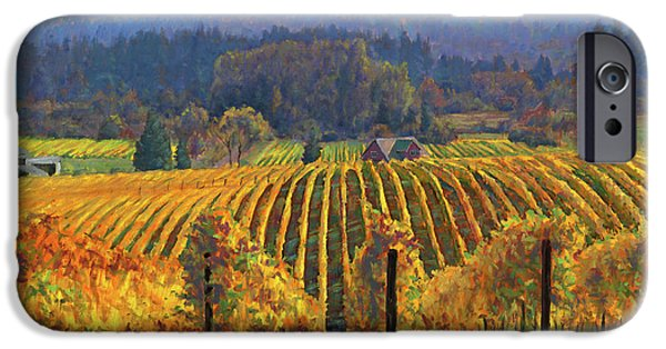 Michael Paintings iPhone Cases - Harvest Gold iPhone Case by Michael Orwick