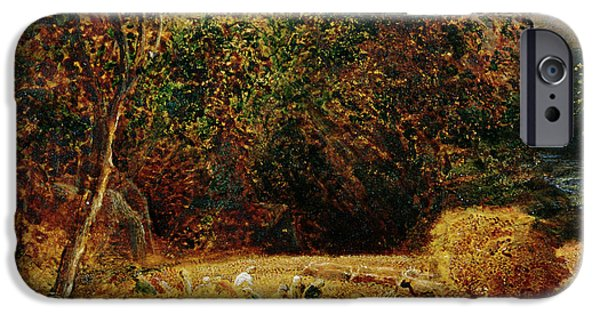 Moon iPhone Cases - Harvest Moon iPhone Case by Samuel Palmer