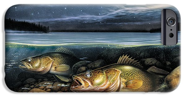 Tackle iPhone Cases - Harvest Moon Walleye 1 iPhone Case by JQ Licensing