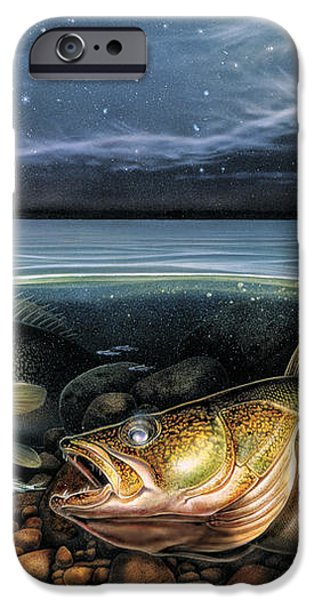 Harvest Moon Walleye 1 iPhone Case by JQ Licensing