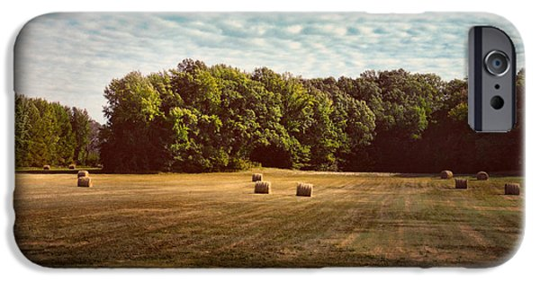 Tennessee Hay Bales iPhone Cases - Harvest Time iPhone Case by Jai Johnson