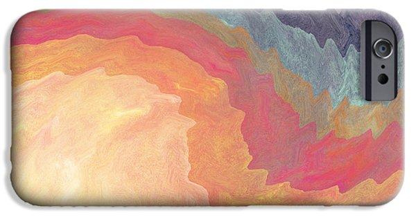 Corporate Art iPhone Cases - Harvest Wind- Abstract Art by Linda Woods iPhone Case by Linda Woods
