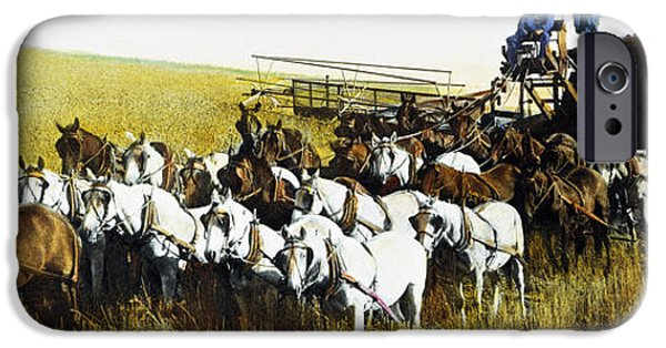The Horse iPhone Cases - Harvesting, 1903 iPhone Case by Granger