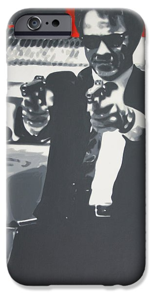 Reservoir Dogs iPhone Cases - Mr White iPhone Case by Luis Ludzska