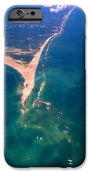 Recently Sold -  - Canoe iPhone Cases - Hatteras Aerial Vertical iPhone Case by George Mitchell