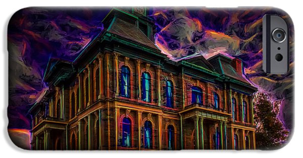 Haunted House iPhone Cases - Haunted House iPhone Case by John Bailey