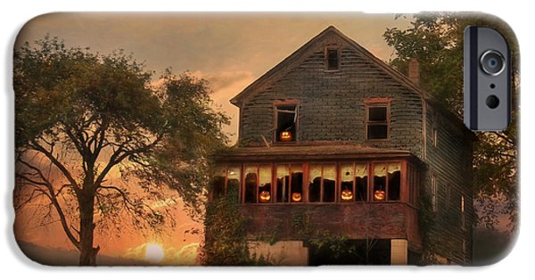 Haunted House iPhone Cases - Haunted House iPhone Case by Lori Deiter
