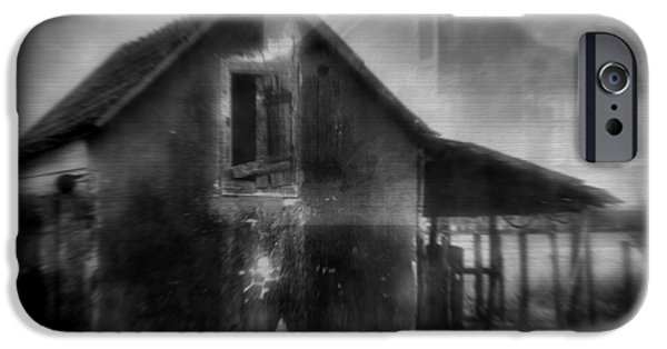 Haunted House iPhone Cases - Haunted House iPhone Case by Mimulux patricia no