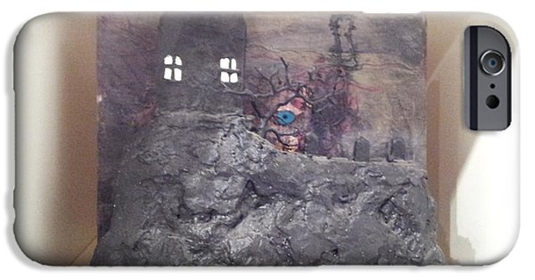 House Reliefs iPhone Cases - Haunted House iPhone Case by William Douglas