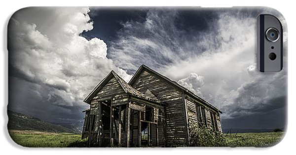 Haunted House iPhone Cases - Haunted iPhone Case by Peter Irwindale