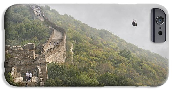 Cutler iPhone Cases - Haunting Great Wall iPhone Case by Betsy C  Knapp
