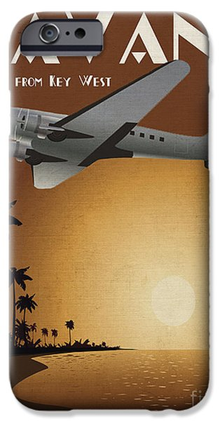 Vintage Travel iPhone Cases - Havana iPhone Case by Cinema Photography