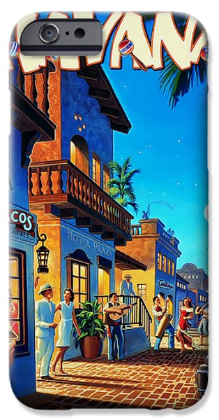 Ocean iPhone Cases - Havana Cuba iPhone Case by Mark Rogan