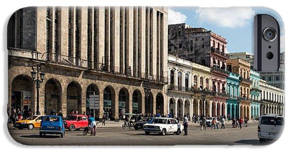 Balcony iPhone Cases - Havana - Paseo Del Prado  iPhone Case by Les Palenik
