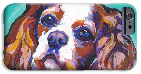 Fun Dog Art iPhone Cases - Have A Cav iPhone Case by Lea