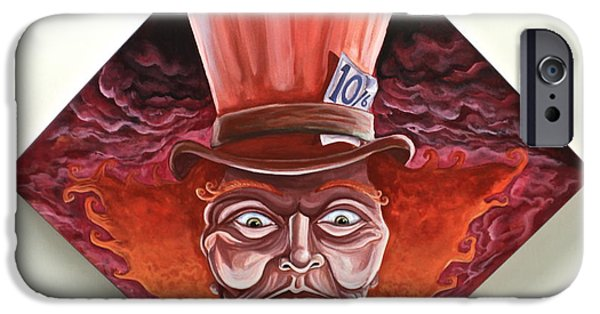 Mad Hatter iPhone Cases - Have I Gone Mad? iPhone Case by Alex Kirouac