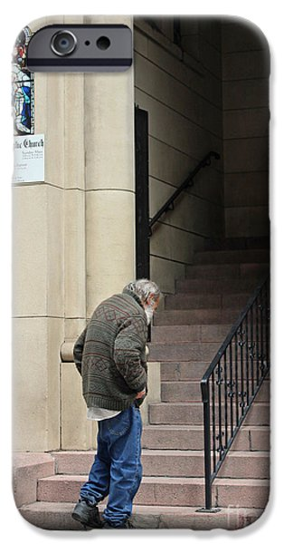 Old Man With Beard iPhone Cases - Haven Of Rest iPhone Case by Joe Jake Pratt