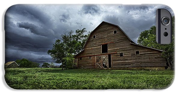 Old Barns iPhone Cases - Haven iPhone Case by Thomas Zimmerman