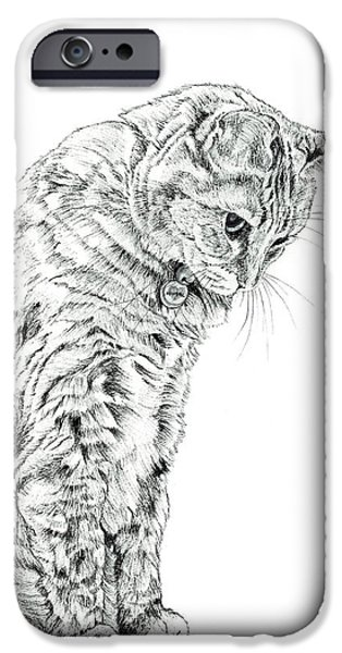 Kobe Drawings iPhone Cases - Having Eaten Too Much iPhone Case by Takahiro Yamada