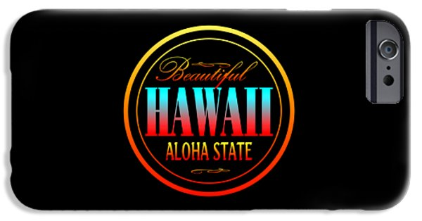 Graphic Design Tapestries - Textiles iPhone Cases - Hawaii Aloha State iPhone Case by Art America - Art Prints - Posters - Fine Art