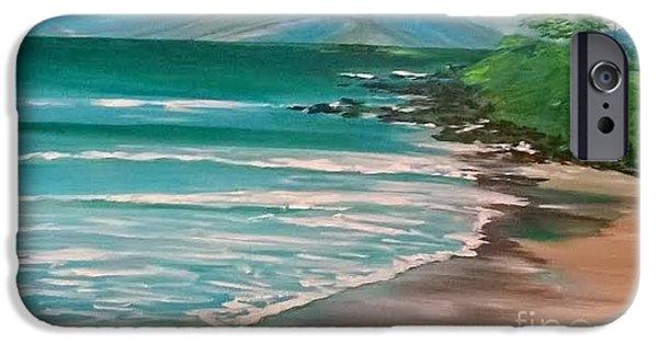 Etc. Paintings iPhone Cases - Hawaii Honeymoon iPhone Case by Jill Morris