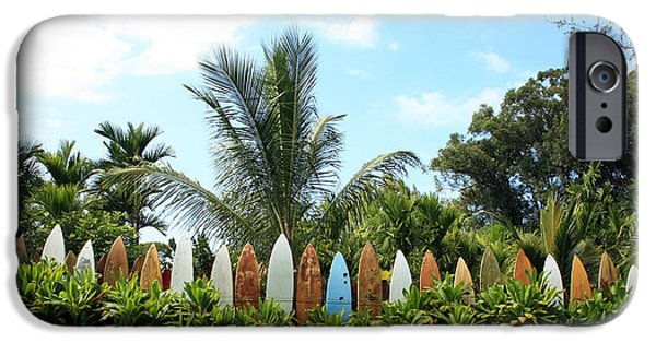 Loose iPhone Cases - Hawaii Surfboard Fence iPhone Case by Michael Ledray