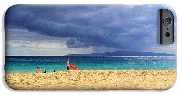 Beach Landscape iPhone Cases - Hawaiian Afternoon iPhone Case by Kathy Bassett