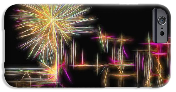 4th July iPhone Cases - Hawaiian Fireworks iPhone Case by Scott Cameron