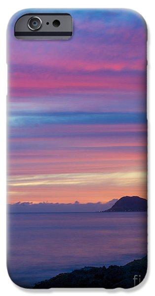Ocean Sunset iPhone Cases - Hawaiian Sunset I iPhone Case by Digital Kulprits
