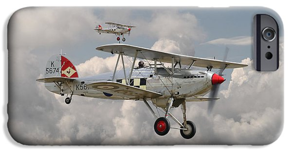 Fury Digital Art iPhone Cases - Hawker Fury iPhone Case by Pat Speirs