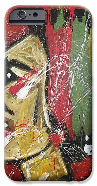 Sport Paintings iPhone Cases - Hawks iPhone Case by Elliott From
