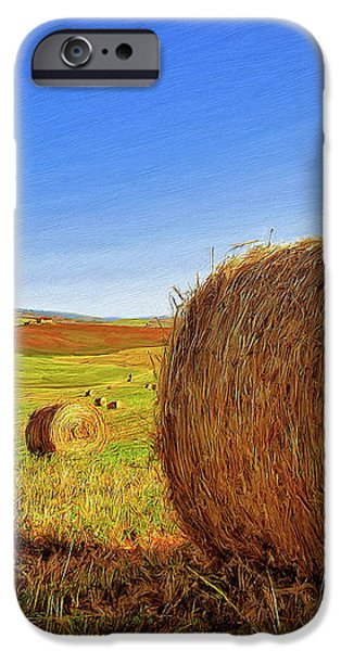 Hay Bales iPhone Case by Dominic Piperata