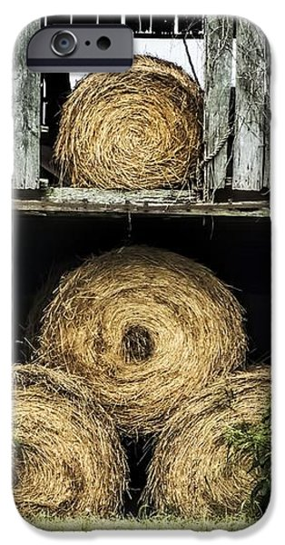 Old Barns iPhone Cases - Hay Bales iPhone Case by Melissa Bittinger