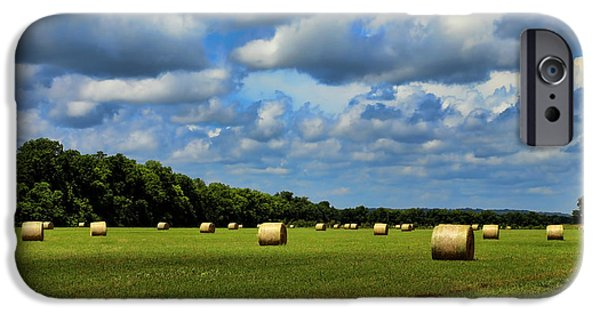 Haybale iPhone Cases - Haybales iPhone Case by Judy Vincent
