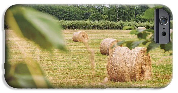 Haybale iPhone Cases - Haybales iPhone Case by Sophie McAulay