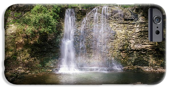 Franklin iPhone Cases - Hayden Run Waterfall iPhone Case by Tom Mc Nemar