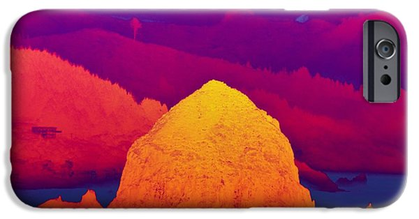 Red Rock iPhone Cases - Haystack Rock Infrared iPhone Case by Scott Cameron