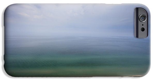 Contemporary Abstract iPhone Cases - Hazy day at Sleeping Bear Dunes iPhone Case by Adam Romanowicz