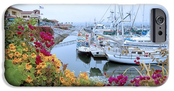 Village iPhone Cases - Hazy Days at the Harbor iPhone Case by Lynn Bauer