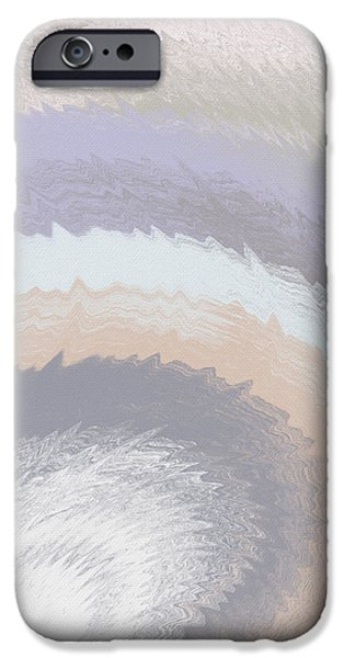 Morning iPhone Cases - Hazy Morning- Abstract Art by Linda Woods iPhone Case by Linda Woods