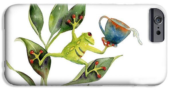 Amphibians iPhone Cases - He Frog iPhone Case by Amy Kirkpatrick