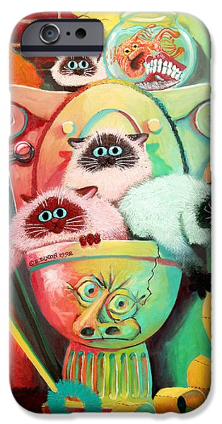 Surrealist iPhone Cases - Head Cleaners iPhone Case by Baron Dixon