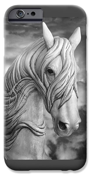 The Horse iPhone Cases - Head In The Clouds D5305 iPhone Case by Wes and Dotty Weber