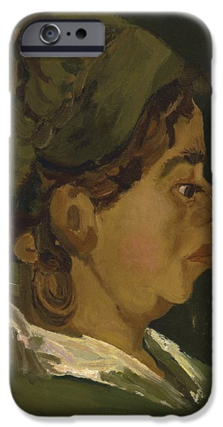 1884 iPhone Cases - Head of a Peasant Woman iPhone Case by Vincent Van Gogh