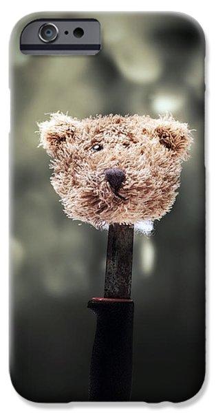 head of a teddy iPhone Case by Joana Kruse